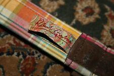 Robert Graham Cotton Madras Suede Embossed Paisley Leather Belt