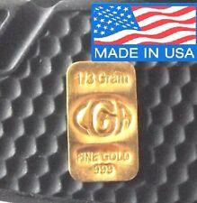 1/3 GRAM GOLD OF 24K PREMIUM CGA BULLION BAR PURE 999.9 FINE CERTIFIED INGOT !