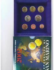 San Marino BU set 2002, 1 ct t/m 2 euro