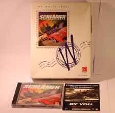 L'ETICHETTA BIANCA SCREAMER Windows MS DOS 5.0 BIG BOX GIOCO PC-CD-ROM