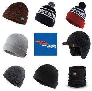 Scruffs VINTAGE BOBBLE BEANIE HAT WARM WORK WINTER KNITTED WOOLY THERMAL Mens