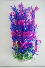 Décorations bleu en plastique pour aquarium, bassin et mare