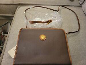 Vintage Pierre Balmain Wristlet/Clutch/Bag Brown Leather