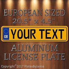 British EURO license plate Volvo Audi BMW Porsche Volkswagen Mercedes tag Yellow