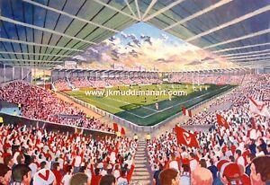 Langtree Park Stadium Fine Art A4 Print - St Helens Rugby League Club