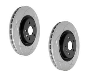 Bendix Ultimate Slotted & Dimpled Brake Rotor Pair Front BR2604 fits Holden C...