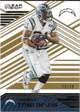 2016 Panini Clear Vision Gold Parallel #81 LaDainian Tomlinson #22/29
