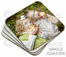 Single Personalised Photo Coaster Table Coasters Image Logo Text Picture Gift