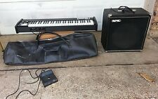 1970`s Univox Compac 2 electronic piano With Univox External Speaker /Case/Pedal