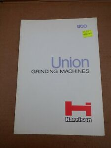 UNION PEDESTAL GRINDING MACHINE SALES LEAFLET
