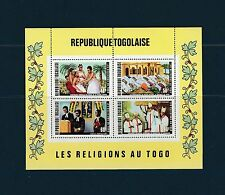 Togo bloc  les  religgions   de 1971    num:  55   **