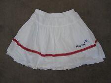 "Wardrobe Sale - Girls ""Petit Chou"" White Summer Cotton Boho Skirt, Size 3"