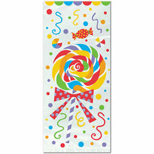 """20 """"CANDY PARTY"""" CELLO Loot TREAT Bags Birthday Party Supplies Lollipops 5""""x 11"""""""