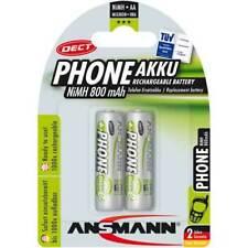 """Ansmann """"Phone DECT"""" NiMH-Akku, Mignon (AA), 800 mAh, 2er Pack (5030902)"""