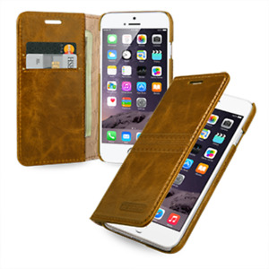 TETDED Hand Made Genuine Leather  Flip Case Cover for iPhone 6 6S 4.7
