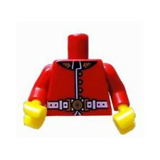 LEGO - Minifig, Torso Royal Guard Uniform with Gold Buttons and White Belt - Red