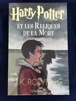 Livre Harry Potter et les Reliques de la mort JK Rowling Gallimard Grand Format