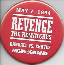 "JULIO CESAR CHAVEZ vs. RANDALL MAY 7, 1994 MGM BOXING PIN-BACK BUTTON 3"" ROUND"