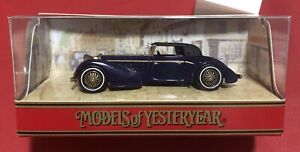 Matchbox YY017A/D Hispano Suiza Models Of Yesteryear Collectable