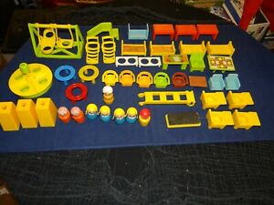 Vintage Original 1960s Fisher Price Little People Play Family School Accessories