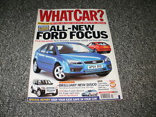 WHAT CAR ?   MAGAZINE  OCTOBER      2004      ENGLISH MONTHLY