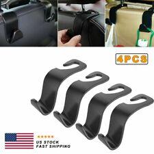 4x Car Seat Back Headrest Hooks Hanger Holder Hook for Bag Purse Cloth Grocery (Fits: Peugeot)