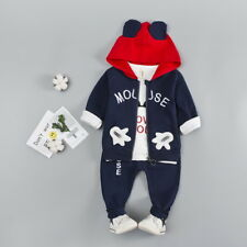 Boys fashion 3 pcs clothing set outfit tracksuit (top+jacket+pants) 18-24 month