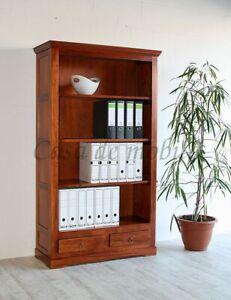 Massivholz Büro-regal 98x176x37cm Standregal kirschbaumfarben Bücherregal holz