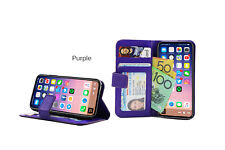 Purple Premium Credit Wallet Leather Case Cover For Samsung Galaxy Note 3