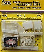 CMK 1/72 TSR-2 Speed Brakes and Avionics Bay for Airfix # 7190