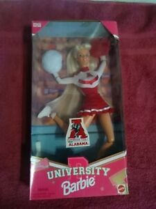 1996 University Barbie Cheerleader Crimson Tide Alabama Never Opened