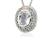 """NEW Welsh Clogau Silver & Rose Gold Looking Glass Pendant (22"""") £30 OFF!"""