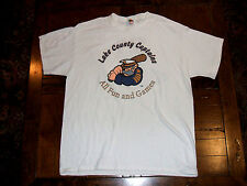 "Lake County Captains ""All Fun & Games"" White XL T-Shirt Cleveland Indians MiLB"