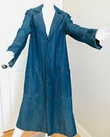 ESKANDAR LONG COAT DUSTER BLUE JEAN DENIM COTTON RARE