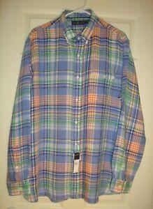 RALPH/LAUREN~man's~OXFORD/linen/POCKET/DRESS/SHIRT! (X/L) N/W/TAGS! $98.50 @@
