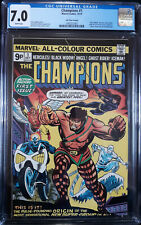 Champions #1 - CGC 7.0 FN/VF  White pages! (1975) - UK Price Variant!