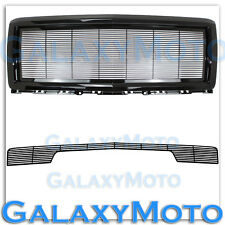 14-15 Chevy Silverado 1500 Black Billet Grille+Replacement Shell+Bumper w/o Tow