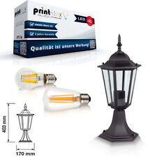 LED Garden Light Bollards E27 Outdoor Light 6W Rustic Retro Pathways Light Black