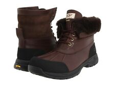 UGG Australia HILGARD Fur Brown Leather Waterproof Boots Shoes 13 14 Mens 3017