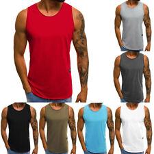 87a7ecf3e0031 Men Summer Loose Tank Top Gym Sports Fitness Sleeveless Vest T Shirt Blouse  Plus