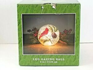 "Tis The Season LED Glass 6"" Gazing Ball"