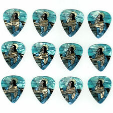 12 Pack JESUS STAINED GLASS CHURCH Medium Gauge 351 Guitar Pick Plectrum