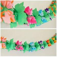 3D Luau Flower Shaped Paper Garland - 12 Ft Long