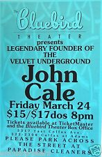John Cale 1995 Denver Concert Tour Poster - Founder Of The Velvet Underground