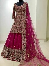 Latest Pink Designer Bollywood Indian Pakistani bridal gharara exclusive dress