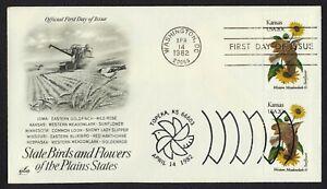 #1968 20c Kansas, Art Craft-Dual Cancel FDC **ANY 4=FREE SHIPPING**
