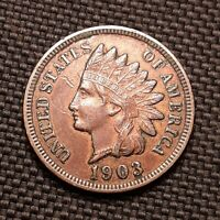 1903 Indian Head Cent/Penny - XF/AU