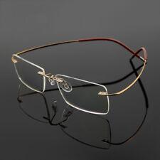 Мужские гибкие оптические очки оправа очков очки β-титановые безободковые RX в состоянии
