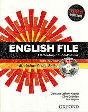 ENGLISH FILE Elementary Third Edit Student's Book w iTutor DVD-ROM & Online @NEW