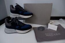 Alexander Mcqueen Mens Oversized Sneakers, Blue, Uk 5 Eu39, New